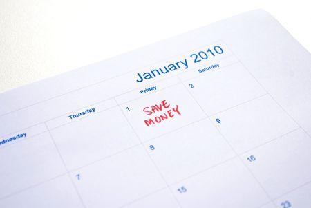 New year - save money photo