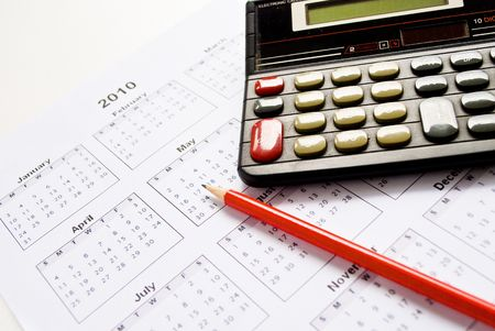 Calculator and calender Stock Photo - 5770117
