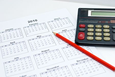 Calculator and calender Stock Photo - 5770122