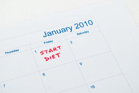 Start Diet - Calender Stock Photo - 5770096