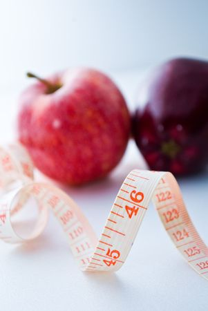 Measurement of Apples - diet Stock Photo - 5770116