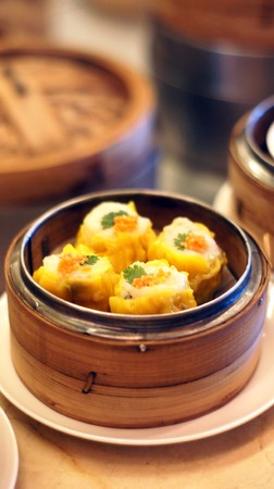 Chinese Steamed Snack - Dim Sum         photo