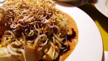 peanut sauce: Peanut sauce glass noodle - oriental dish