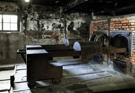 crematorium: Crematorium at Auschwitz.