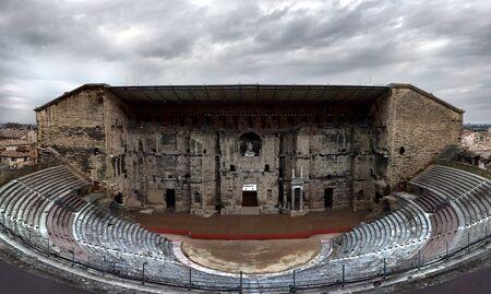 vaucluse: Roman Theatre of Orange, Vaucluse, France. Stock Photo