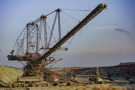 mined: Open development. Huge machines manganese ore is mined in open pits. Metallurgical industry in Ukraine.