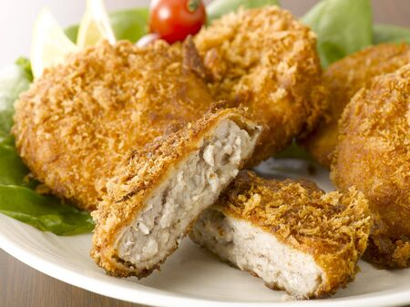 croquettes: A plate with meat croquettes Stock Photo