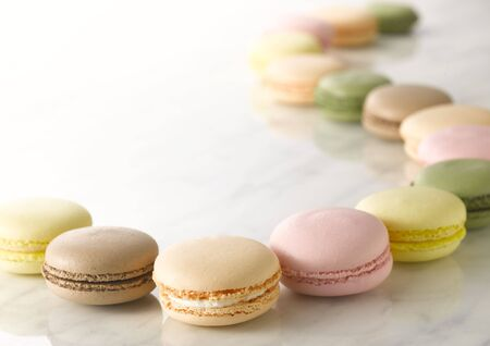 french pastry: Macaron is a traditional French pastry