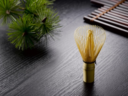 maccha: Chasen:Equipment for tea ceremony in Japan made by bamboo.