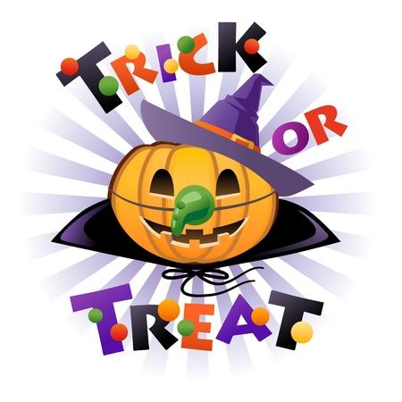wicked: Halloween pumpkin Jack o lantern in wich costume
