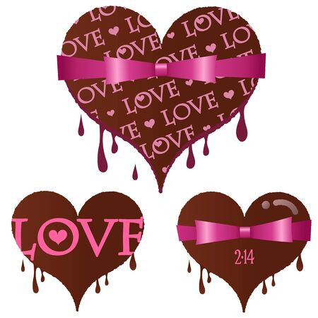 dripped: Set of Valentine Illustration
