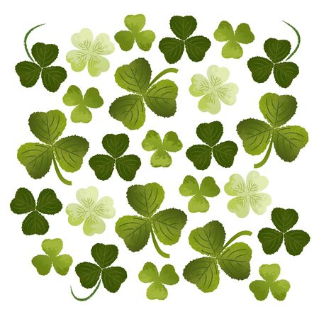 patric: Shamrocks clovers background  St  Patric Day