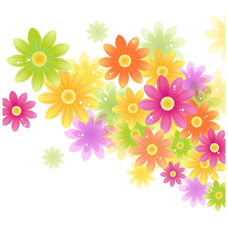 Gerbera flower background with text space Transparency, Gradient Mesh and Clipping masks contained   Vector