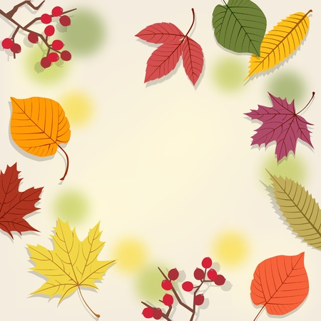 background with autumn leaves.File contains Gradients, Clipping mask with un-cropped images, Transparency, Gradient mesh.