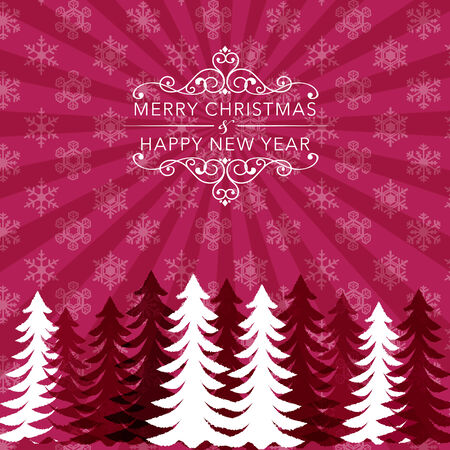 gaussian: Christmas holiday background with snowflake pattern and tree silhouette  File ontains Transparency, Gradients, Clipping mask,Gaussian Blur