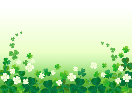 Shamrocks clovers Background for St  Patrick Vector
