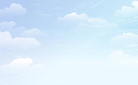 Verbreitung blauem Himmel und weißen Wolken Hintergrund. Datei enthält Farbverlauf, Transparent. Vektorgrafik