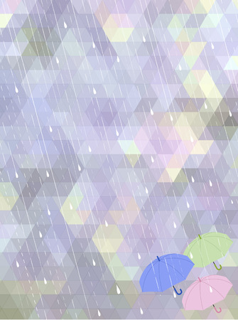 the rainy season: Abstract mosaic background in rainy season concept  File contains clipping mask