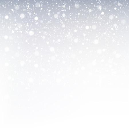 Snowing background. Winter scenery.Gradient, Transparency, Gradient mesh.