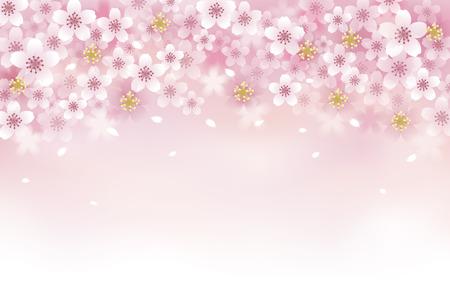 Sakura Cherry Blossom achtergrond. Bestand transparantie bevat, Blending tool, Verlopen, Gradient Mesh. Stock Illustratie