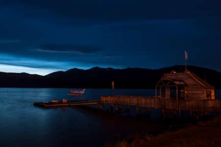 anau: Dark sky before rain @ Te anau, New Zealand