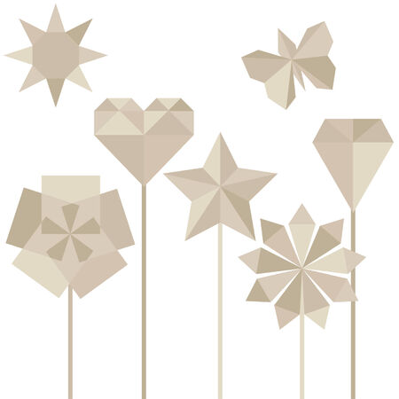pastel colored: pastel colored origami elements