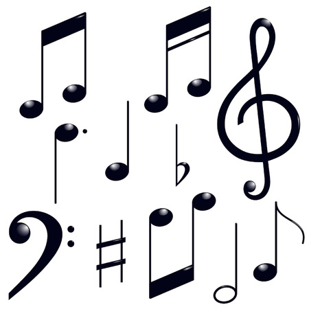 music note: icons set music note