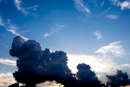 Blue sky with abstractive clouds - fluffy clouds Reklamní fotografie