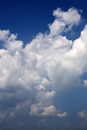 Blue sky with abstractive clouds - fluffy clouds Imagens