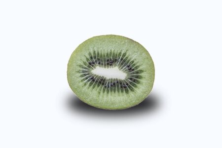 Close up shot of sliced kiwi that isolated on white background Reklamní fotografie
