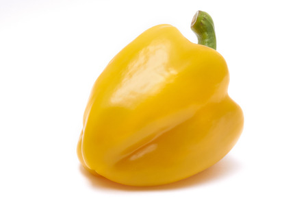 paprica: Yellow paprica on white background Stock Photo