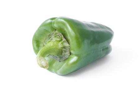 horizontal  green: Horizontal green paprica image on white background