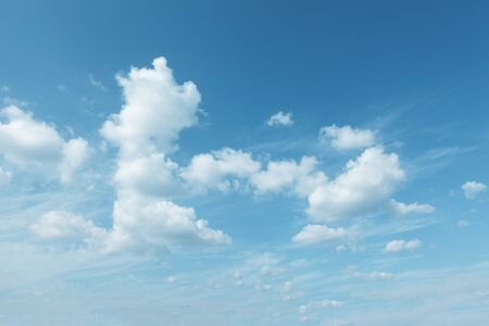 Clouds with clear and soft colored sky