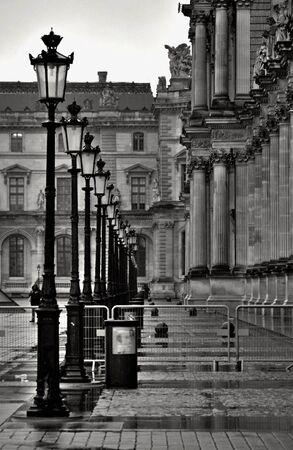 Paris in rain photo