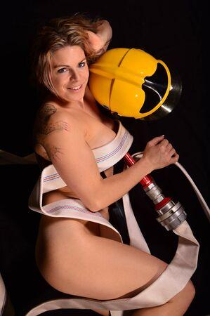 Sexy firewoman