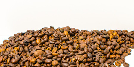Roasted coffee beans to prepare a hot drink.