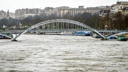 The European metropolis of Paris during the great floods. Stock Photo