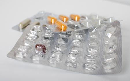 Different medicines to treat various illnesses.