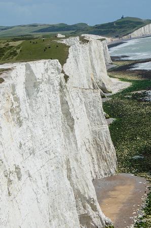 Világhírű angol fehér sziklák hét nővérből.