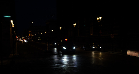 éjszaka párizsi forgalom