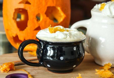 Outono chocolate quente