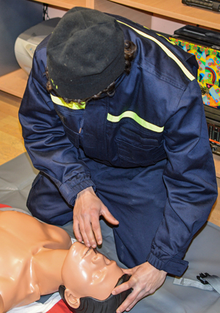 resuscitation training Stockfoto
