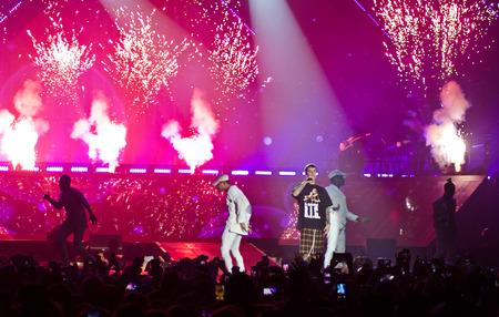 Justin Bieber in Purpose tour, concert in Prague, Czech Republic, 12.11.2016 Editorial