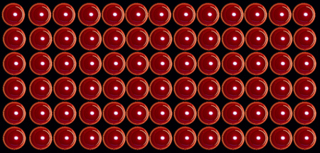 Red valentine burning candles full of love at black background