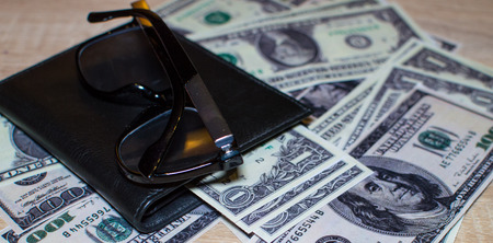 Financial balance with dollars