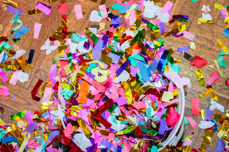 A pile of fired confetti after a big celebration.
