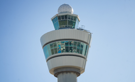 Airtraffic control tower at an international airport