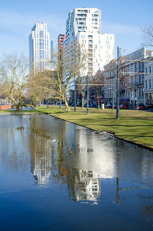 Sunny day in Rotterdam in february.