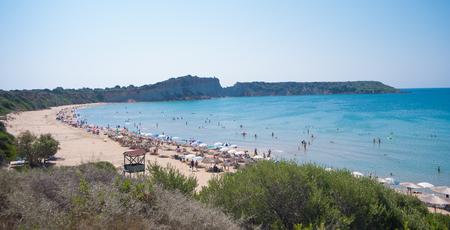 Turtle beach Gerakas at island Zakynthos. Фото со стока