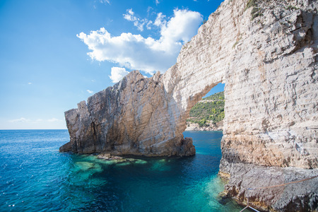 Blue caves in greece on the island of Zakynthos.